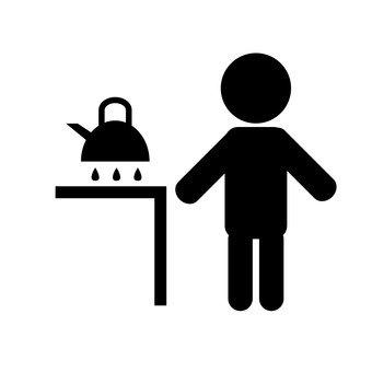 boil hot water