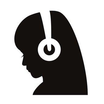 음악을 듣고