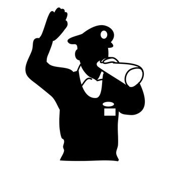 A policeman who gives directions
