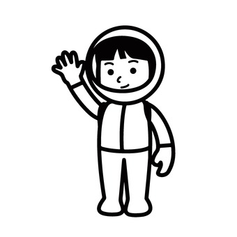 Girl in space suit