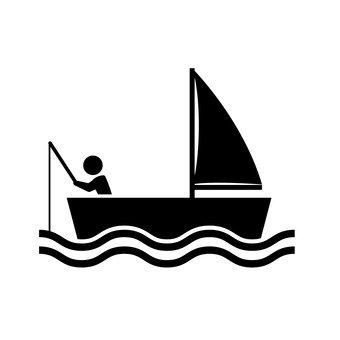 遊艇和垂釣者