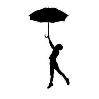 비오는 날 여자