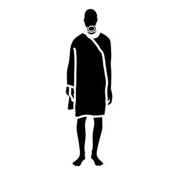 부족의 남자 무늬