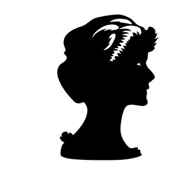 A woman with a profile