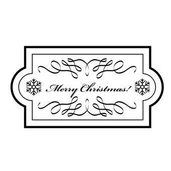 Рождественская этикетка