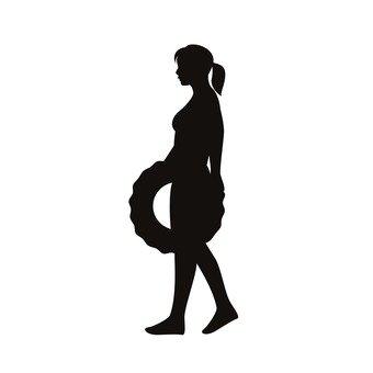 妇女与浮动