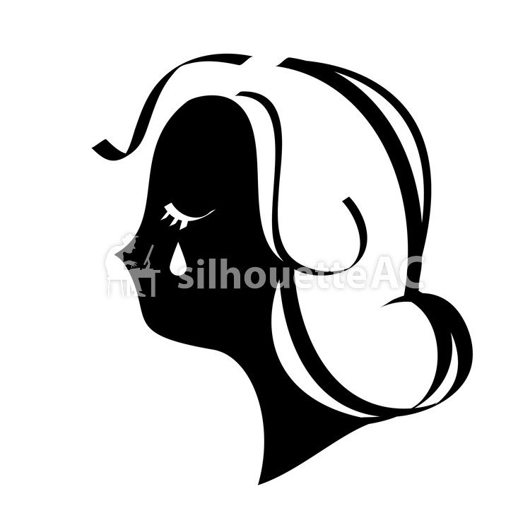 Crying Face Silhouette