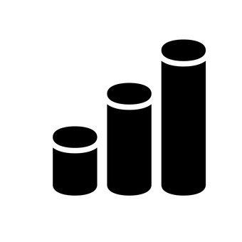 圆柱条形图