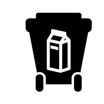 Trash can (milk carton)