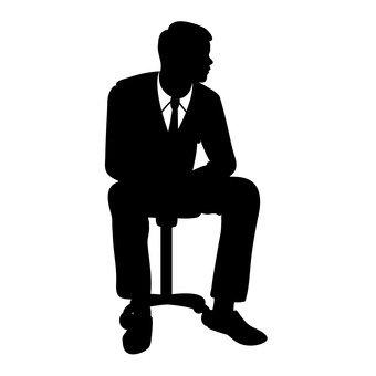 앉는 사람 샐러리맨