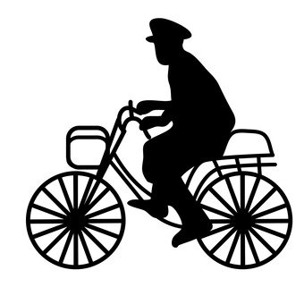 Policeman riding a bicycle
