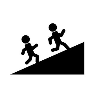 Ascending slope