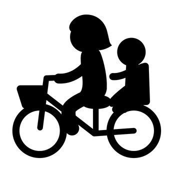 Bicycle with parent and child