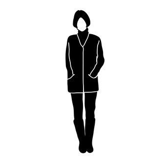 서 모습의 여성