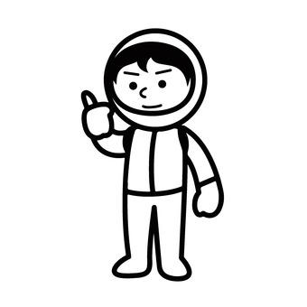 太空服的男孩
