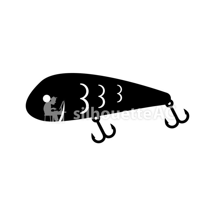Lure Free Silhouette Vector Silhouetteac