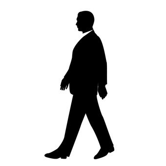 A walking man