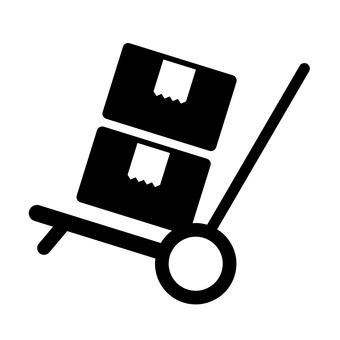 Cardboard and trolley