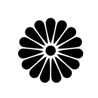 Chrysanthemum heraldic