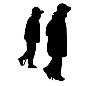 산책하는 노인