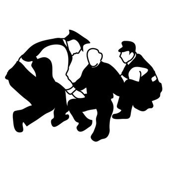 Culprit and policeman