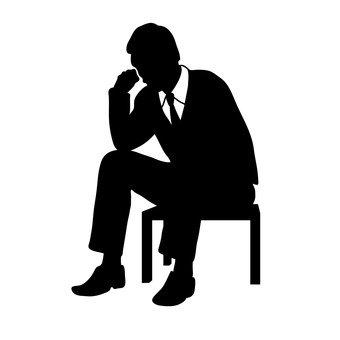 Homme d'affaires assis