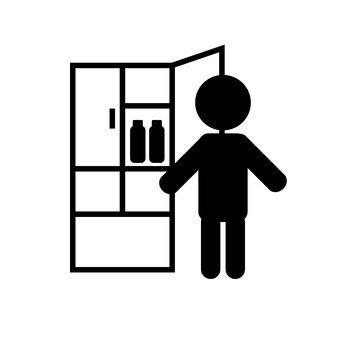 Open the refrigerator