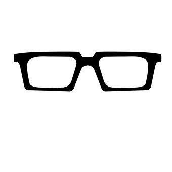 검은 뿔테 안경