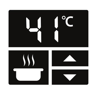 Temperature setting panel