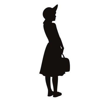 女子与行李
