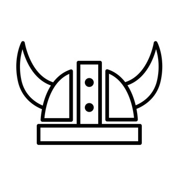Helmet with horn