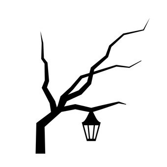 Lamp on a tree