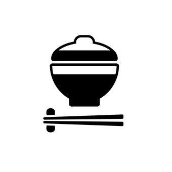 뚜껑 그릇과 젓가락