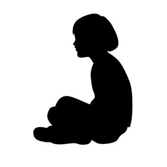 Sitting person child