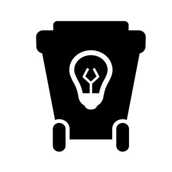 Trash bin (light bulb)