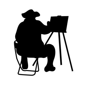 A person drawing a picture