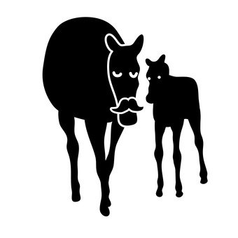 Horse parent and child