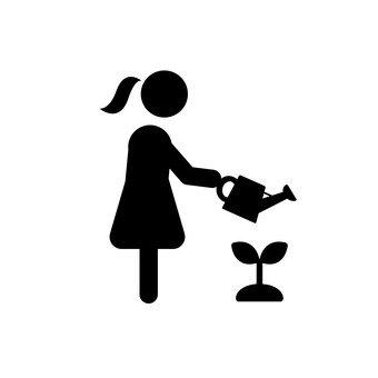 Women watering