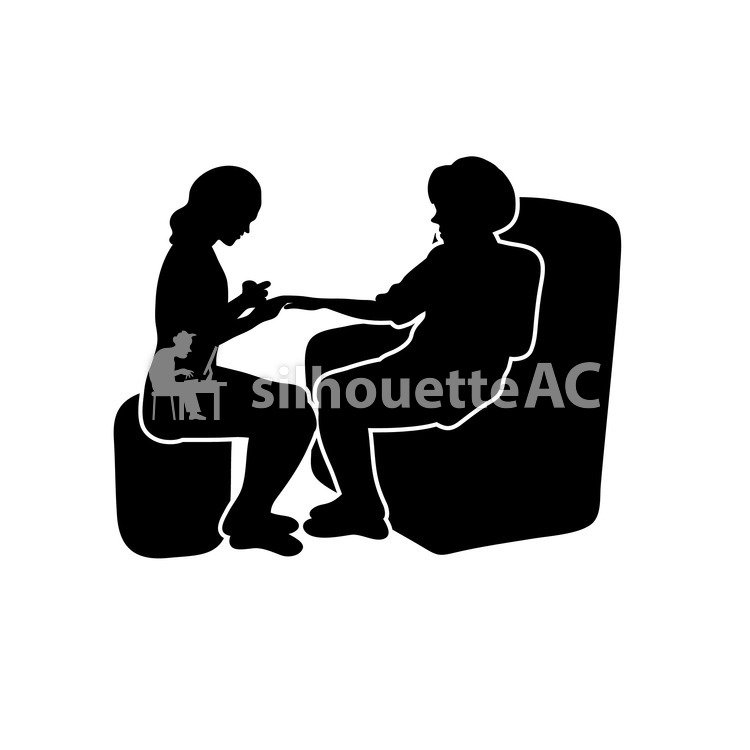 Free Silhouette Vector : nail, 2 people, A catch - 160500 | silhouetteAC