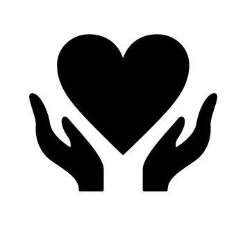 اليد التفاف القلب