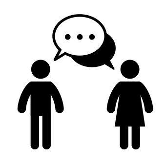 男人和女人說話