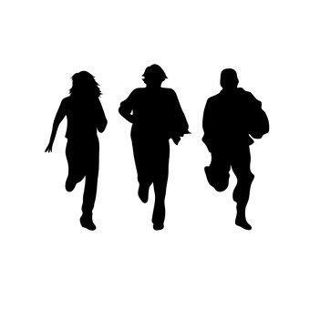 男人和女人逃跑