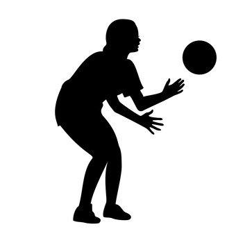 공을 잡는