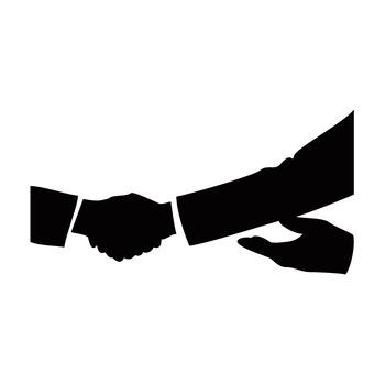 Hand up to shake hands