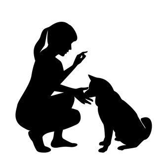 개와 여성