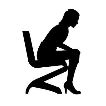 앉는 사람 여성