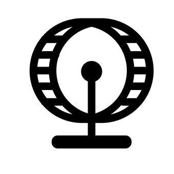 A turning wheel
