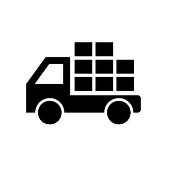 짐을 운반 트럭