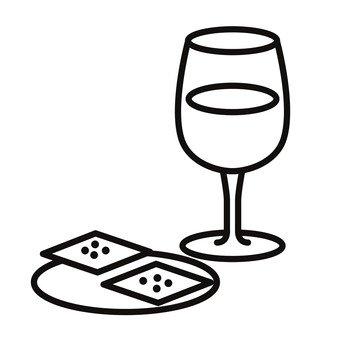 와인과 크래커