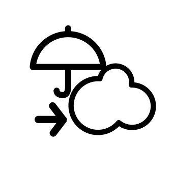 Rain then cloudy